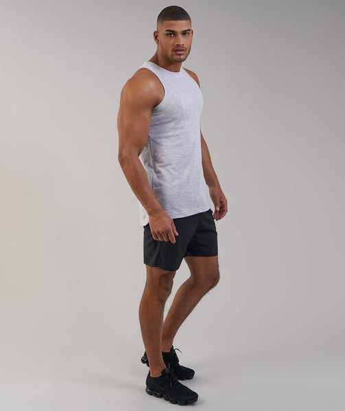 Gymshark Heather Tank - Light Grey Marl 4