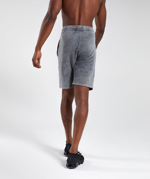 Gymshark Acid Wash Shorts - Light Grey 1