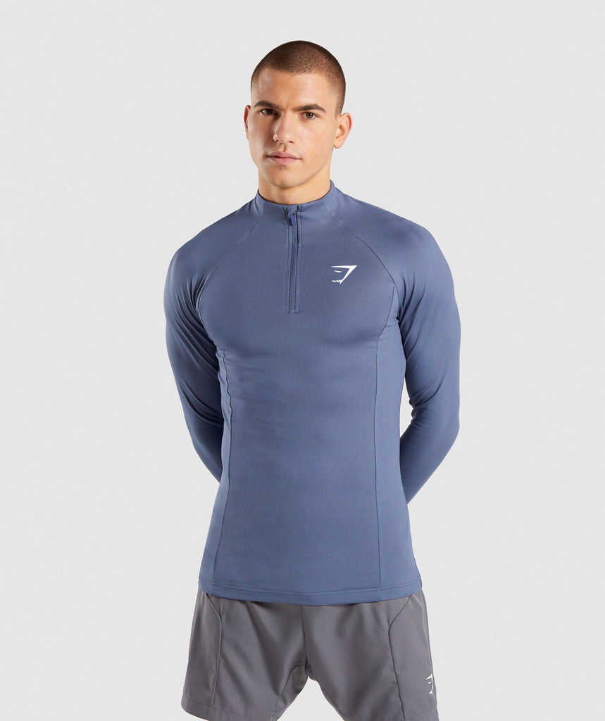 Gymshark Advanced 1/4 Zip Pullover - Aegean Blue 1