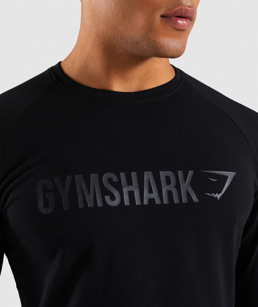 Gymshark Apollo Long Sleeve T-Shirt - Black 5