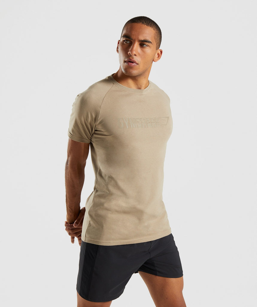 Gymshark Apollo T-Shirt - Driftwood Brown 1