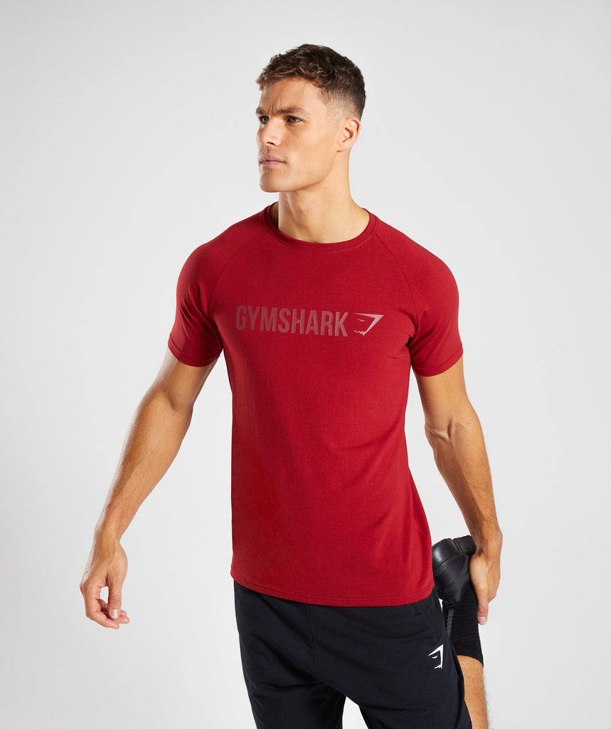 Gymshark Apollo T-Shirt - Full Red 1