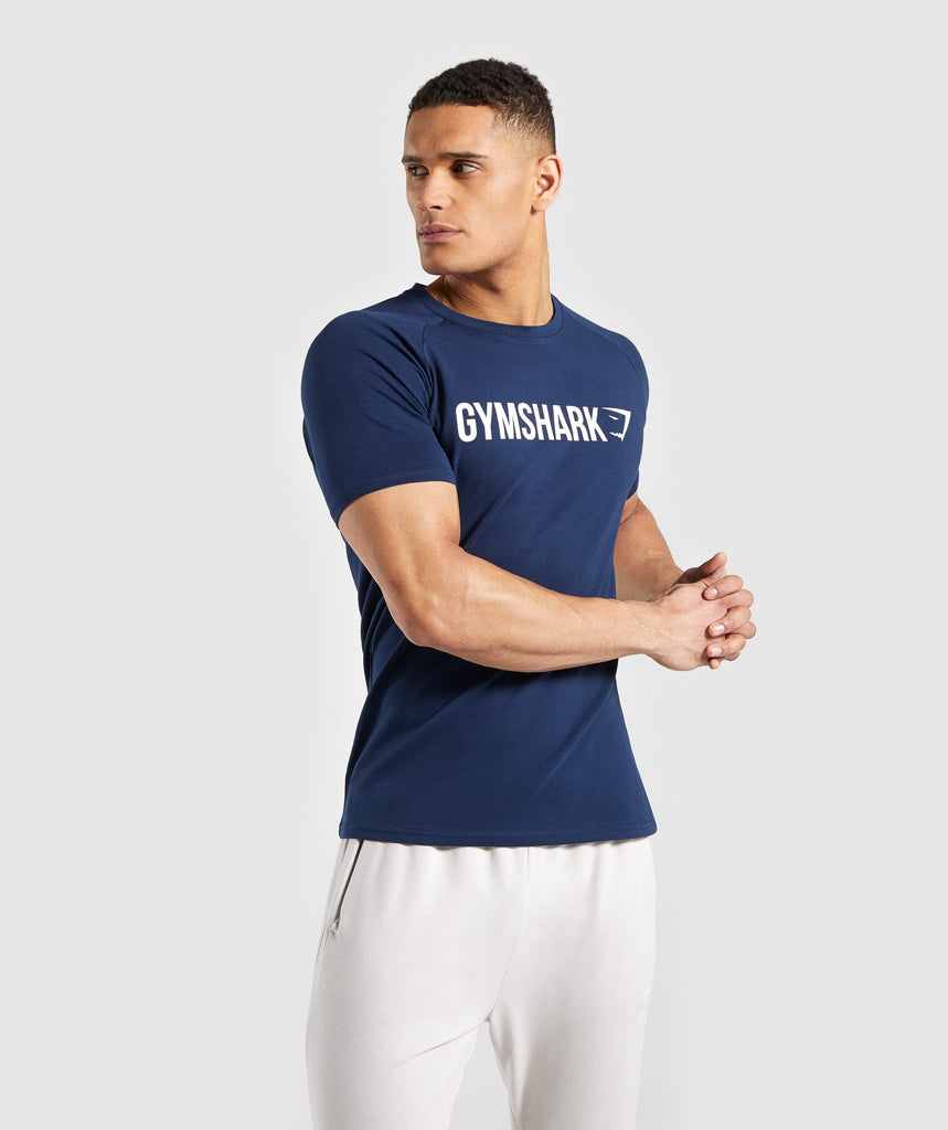 2f2d8db43c5 Gymshark Apollo T-Shirt - Blue 1