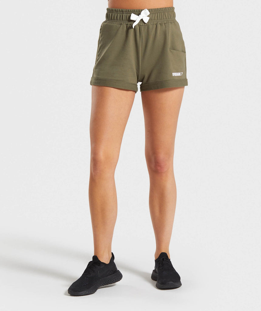 Gymshark Ark High Waisted Shorts - Khaki 1