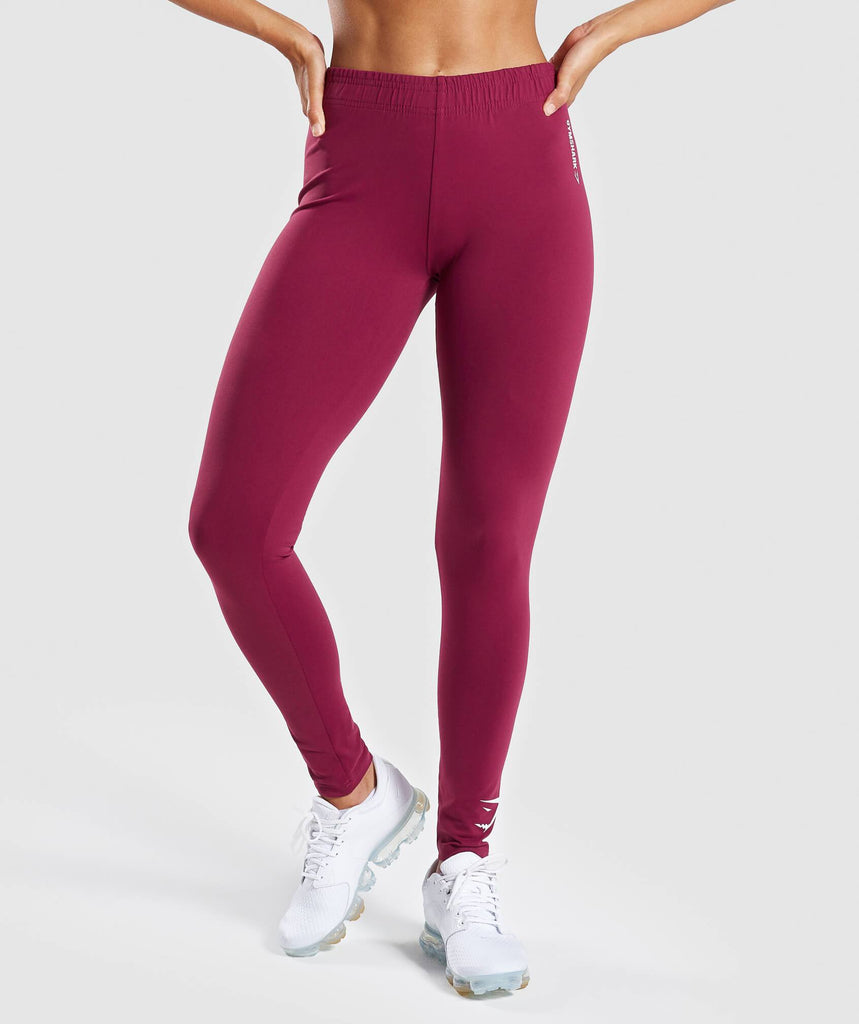 Gymshark Ark Jersey Leggings - Deep Plum 1