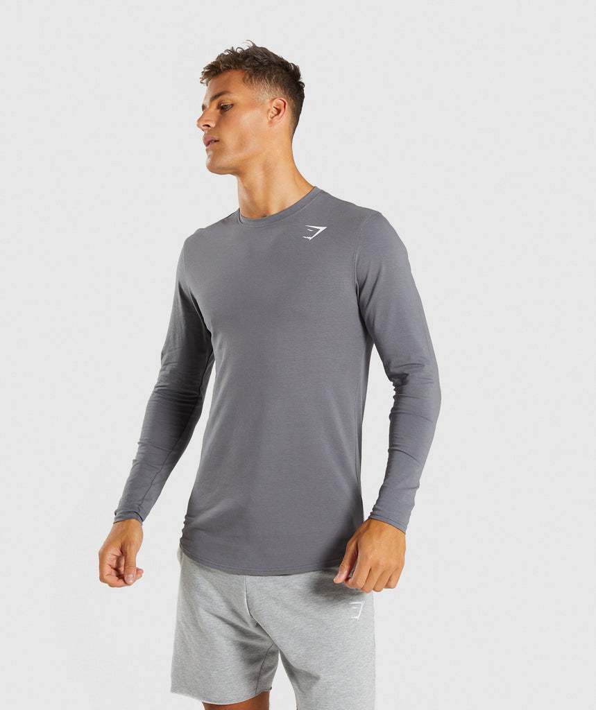 Gymshark Ark Long Sleeve T-Shirt - Smokey Grey 1