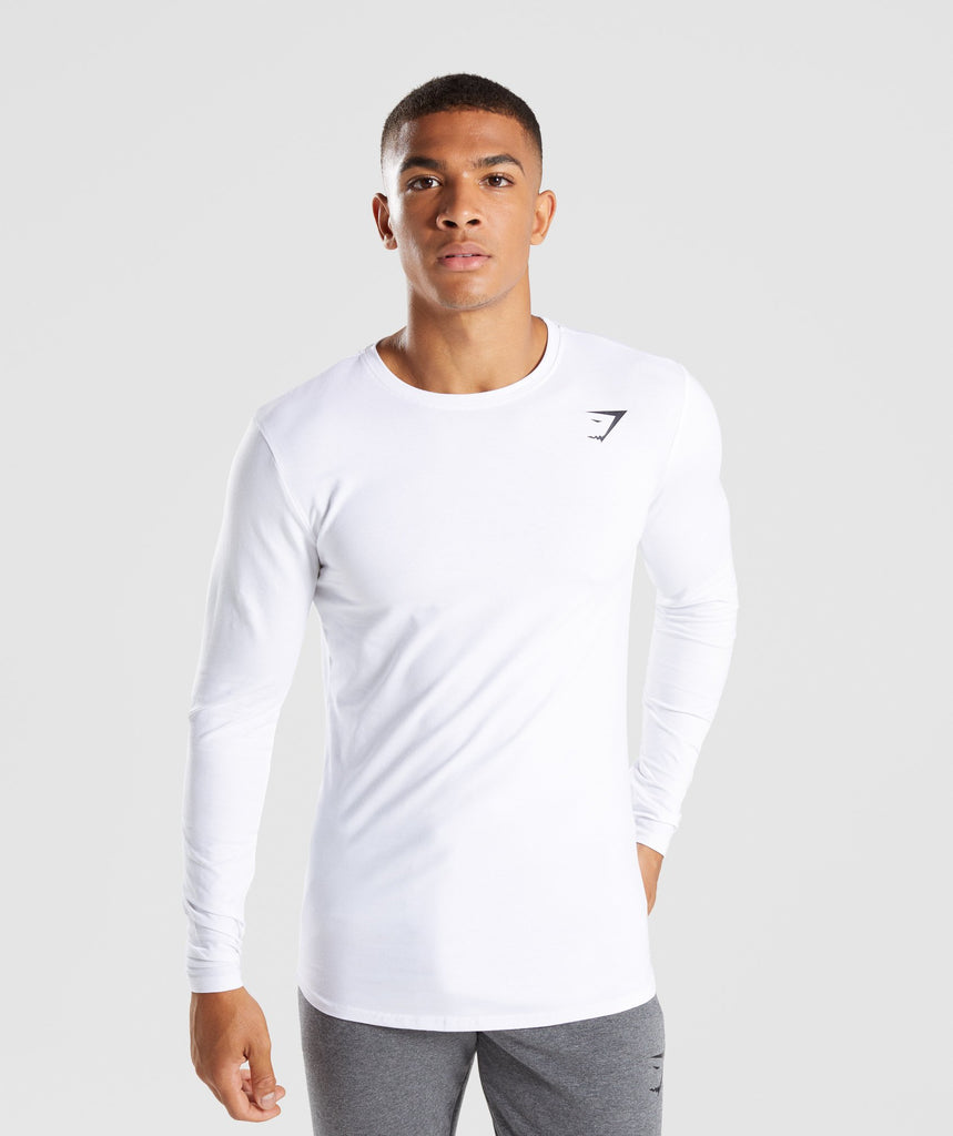 Gymshark Ark Long Sleeve T-Shirt - White 1