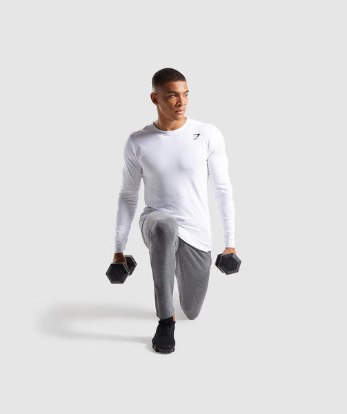 Gymshark Ark Long Sleeve T-Shirt - White 3