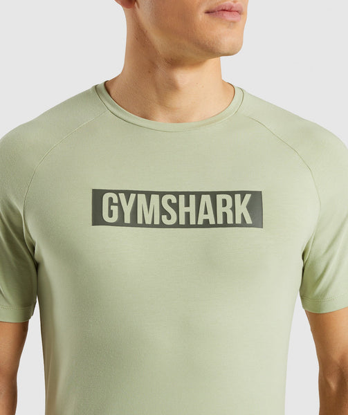 Gymshark Block T-Shirt - Chalk Green 4