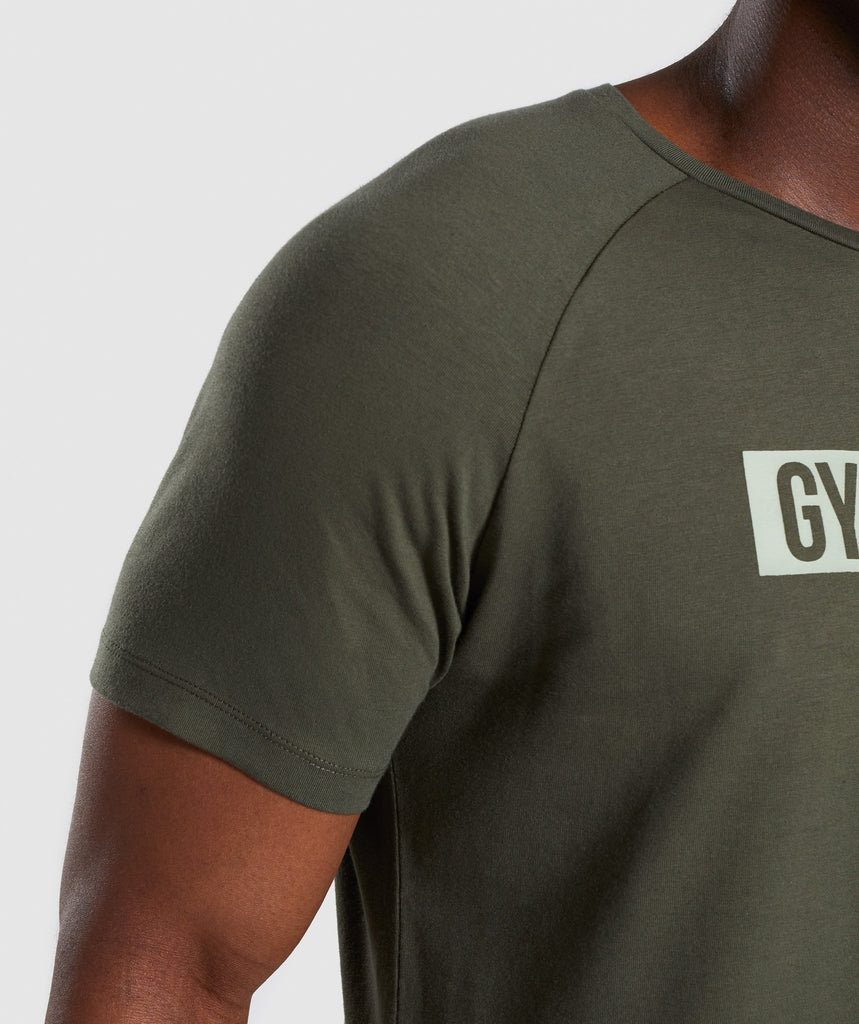 Gymshark Block T-Shirt - Woodland Green 6