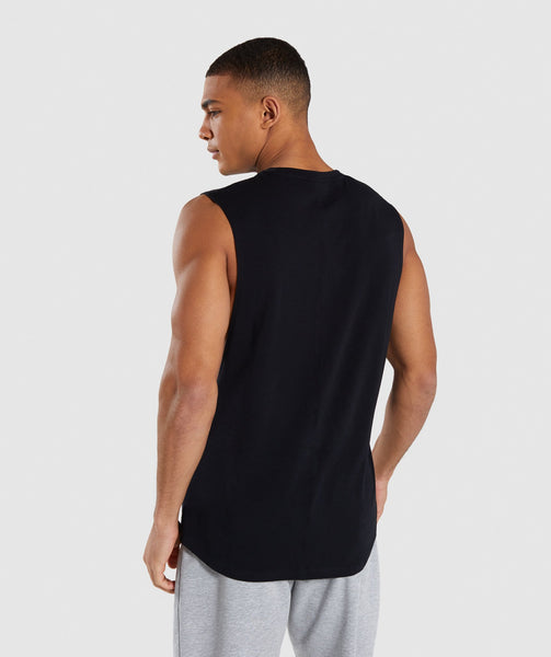 Gymshark Bold Graphic Drop Armhole Tank - Black 1