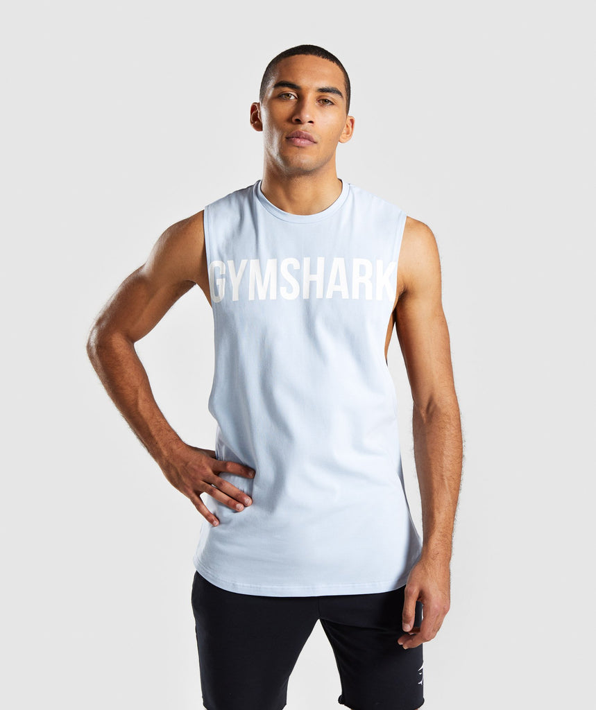 Gymshark Bold Graphic Drop Armhole Tank - Blue 4