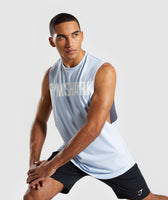 Gymshark Bold Graphic Drop Armhole Tank - Blue 9