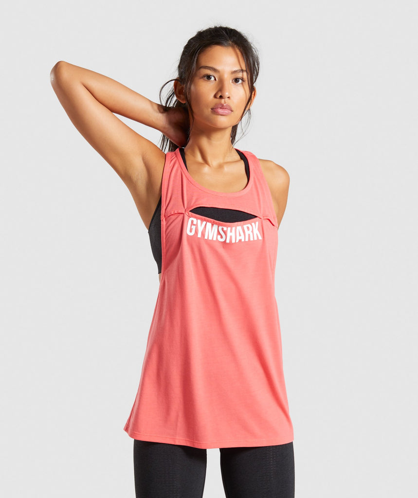 Gymshark Cut Out Vest - Coral 1