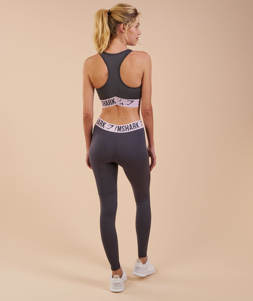 Gymshark Fit Leggings - Charcoal/Chalk Pink 2
