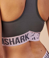 Gymshark Fit Sports Bra - Charcoal/Chalk Pink 12
