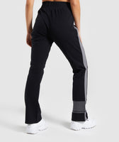 Gymshark Colour Block Joggers - Black/Charcoal/Smokey Grey 8
