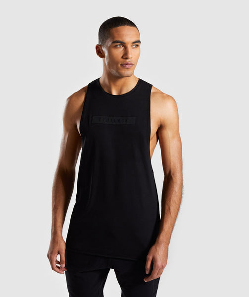 Gymshark Crucial Drop Arm Tank - Black 4