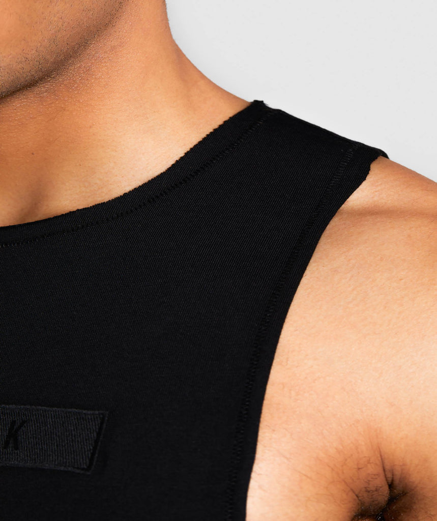 Gymshark Crucial Drop Arm Tank - Black 5