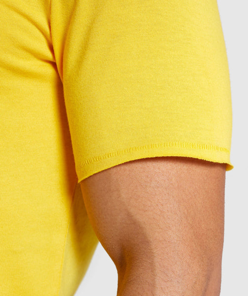 Gymshark Crucial T-Shirt - Yellow 4
