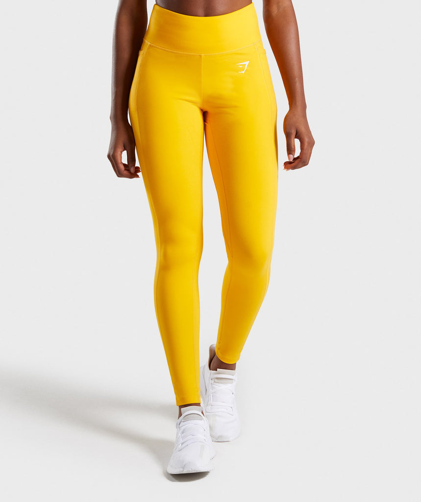 Gymshark Dreamy Leggings 2.0 - Citrus Yellow 1
