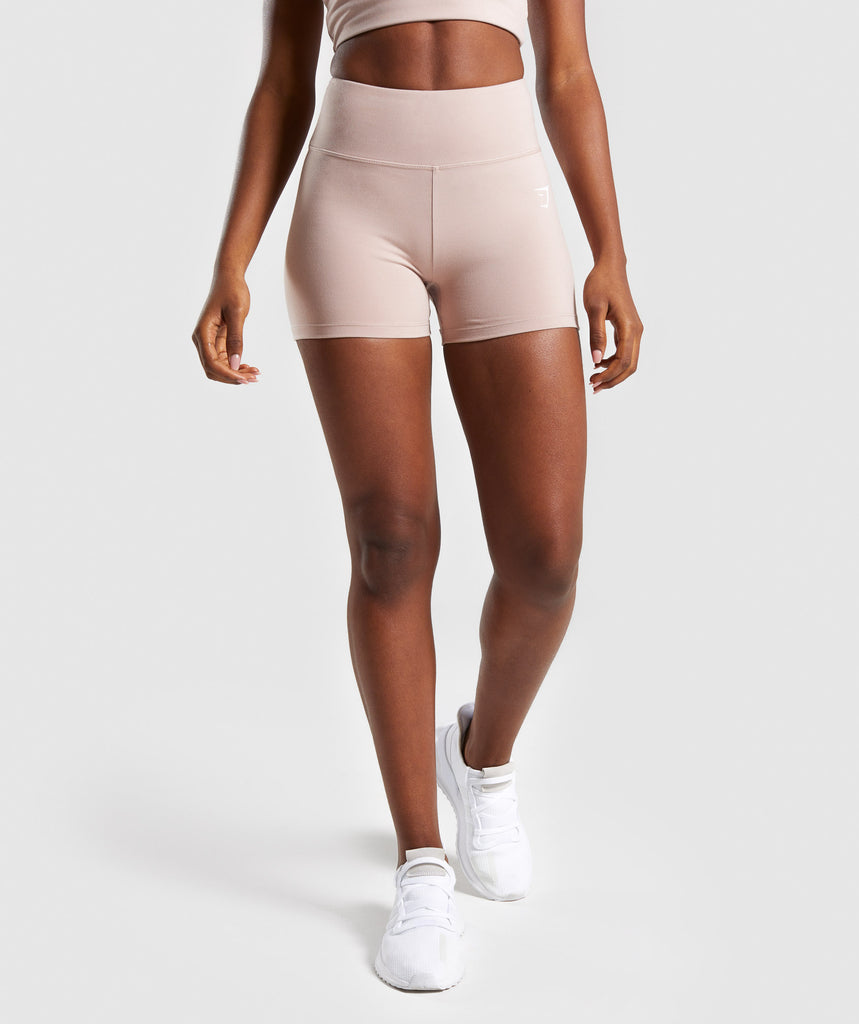Gymshark Dreamy High Waisted Shorts  - Taupe 1
