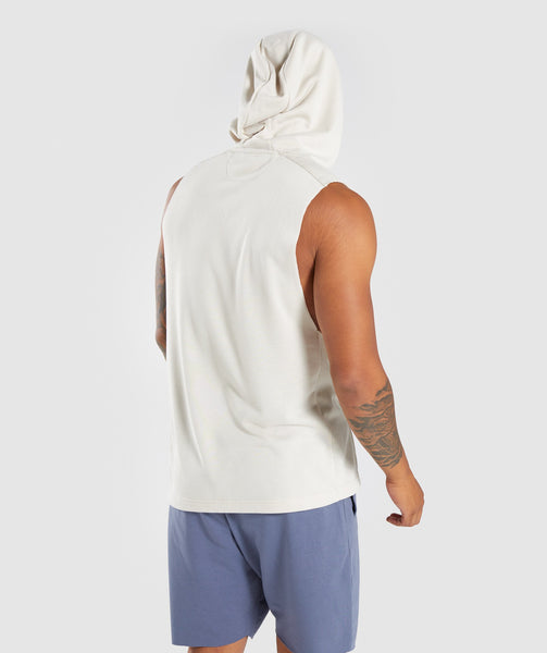 Gymshark Drop Arm Sleeveless Hoodie - Warm Beige 1