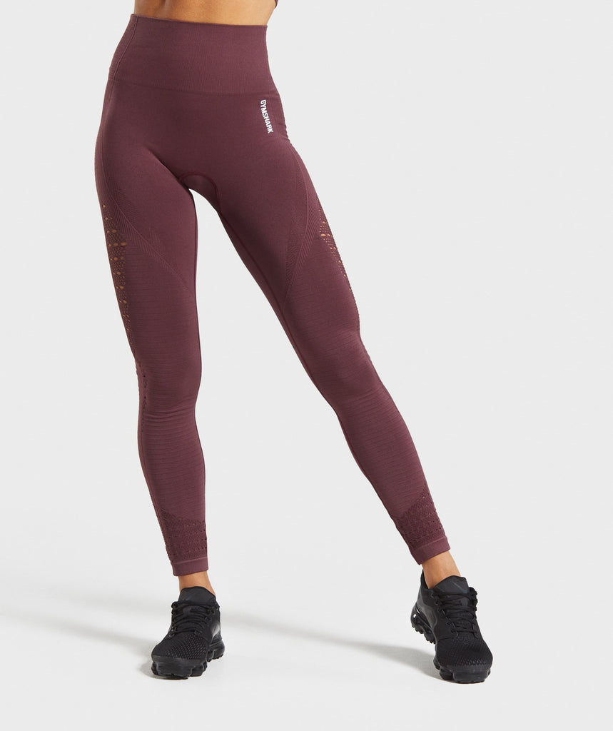 Gymshark Energy+ Seamless Leggings - Berry Red 1