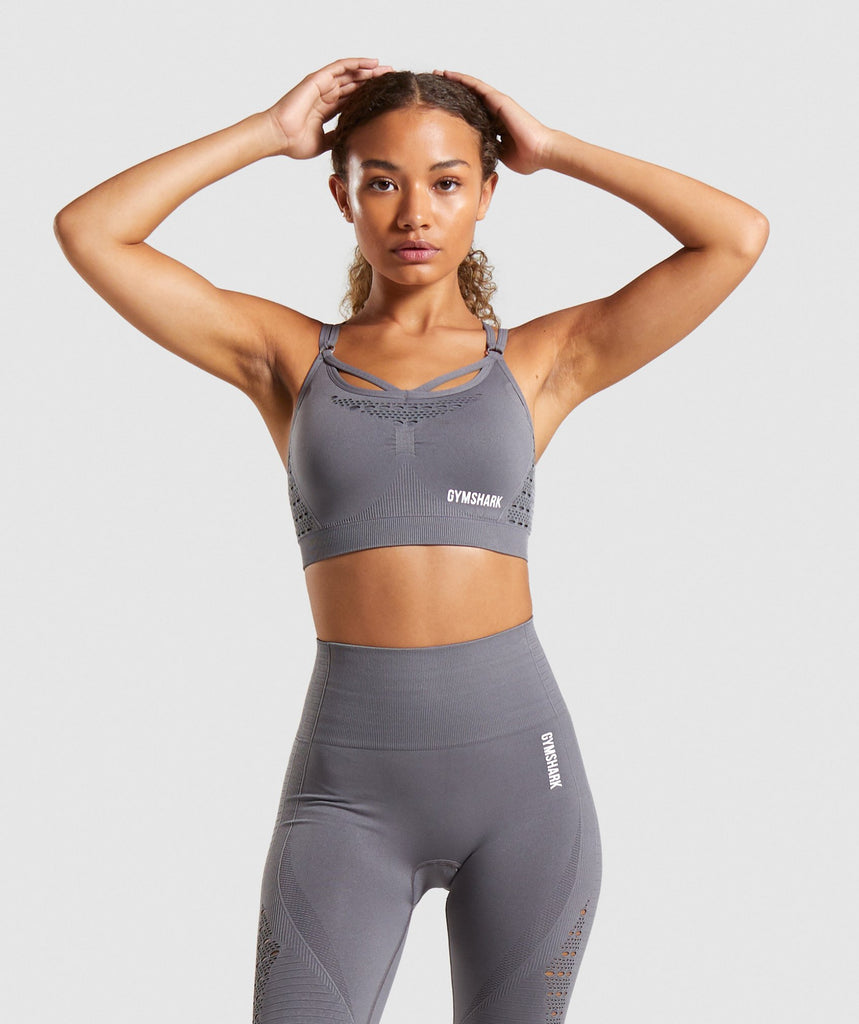 Gymshark Energy+ Seamless Sports Bra - Smokey Grey 1