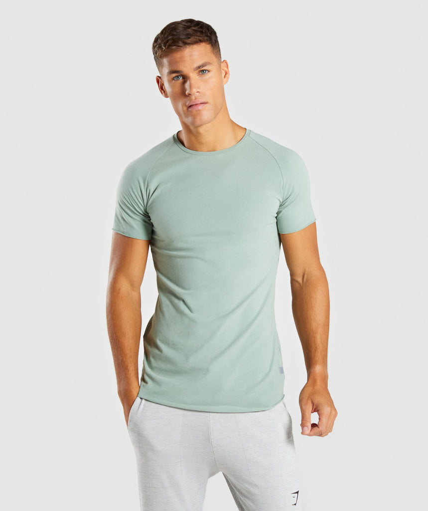 Gymshark Eaze T-Shirt - Pale Green 1