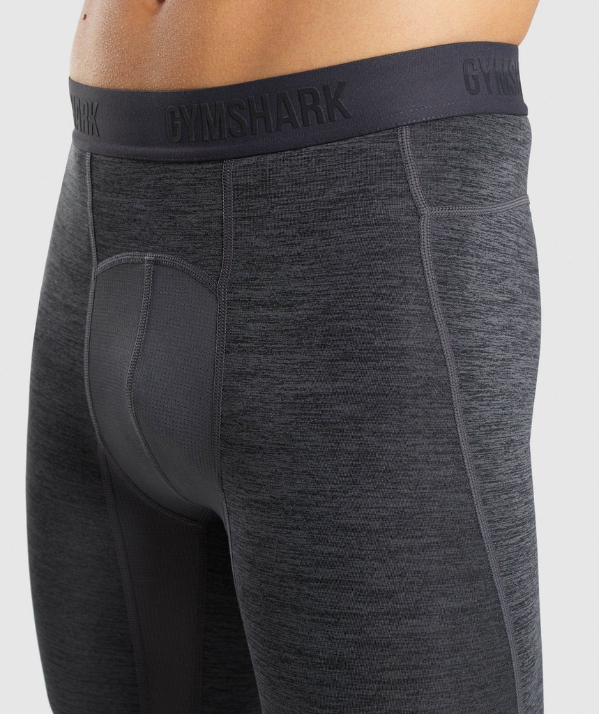 Gymshark Element+ Baselayer Leggings - Black Marl 6