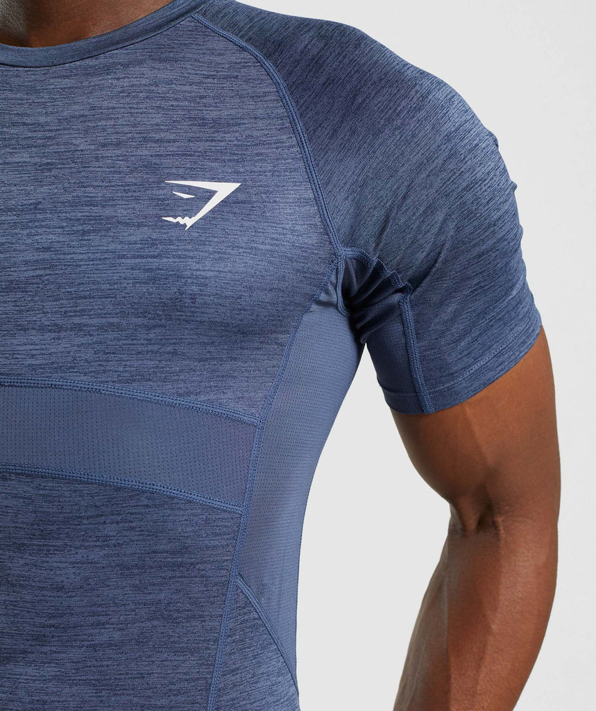 Gymshark Element+ Baselayer T-Shirt - Sapphire Blue Marl 6