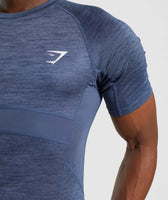 Gymshark Element+ Baselayer T-Shirt - Sapphire Blue Marl 12