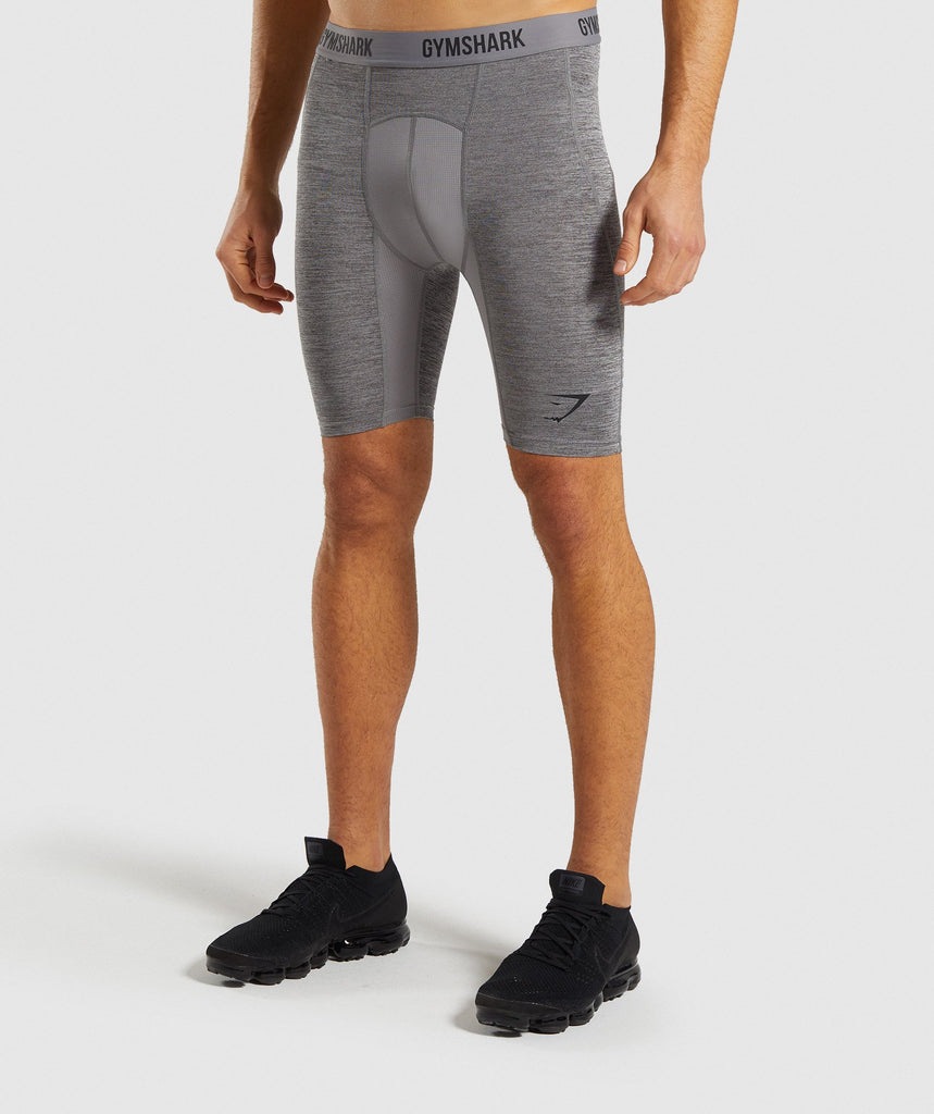Gymshark Element+ Baselayer Shorts - Smokey Grey Marl 4