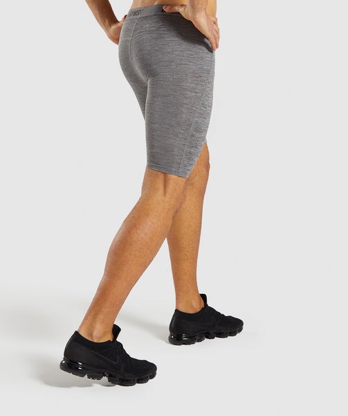Gymshark Element+ Baselayer Shorts - Smokey Grey Marl 1