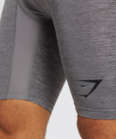 Gymshark Element+ Baselayer Shorts - Smokey Grey Marl 11