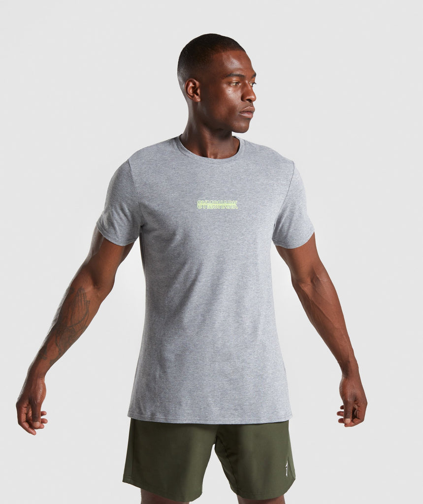 Gymshark Embroidered Logo T-Shirt - Grey Marl 1