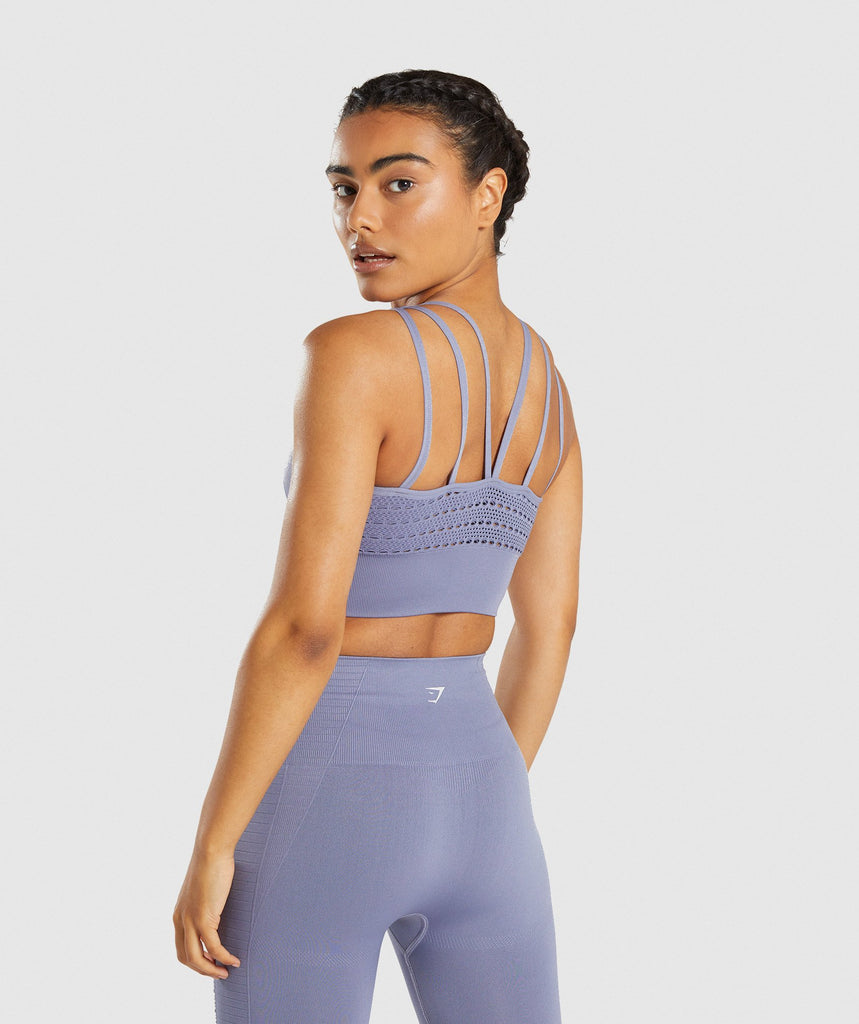 Gymshark Energy+ Seamless Crop Top - Steel Blue 2