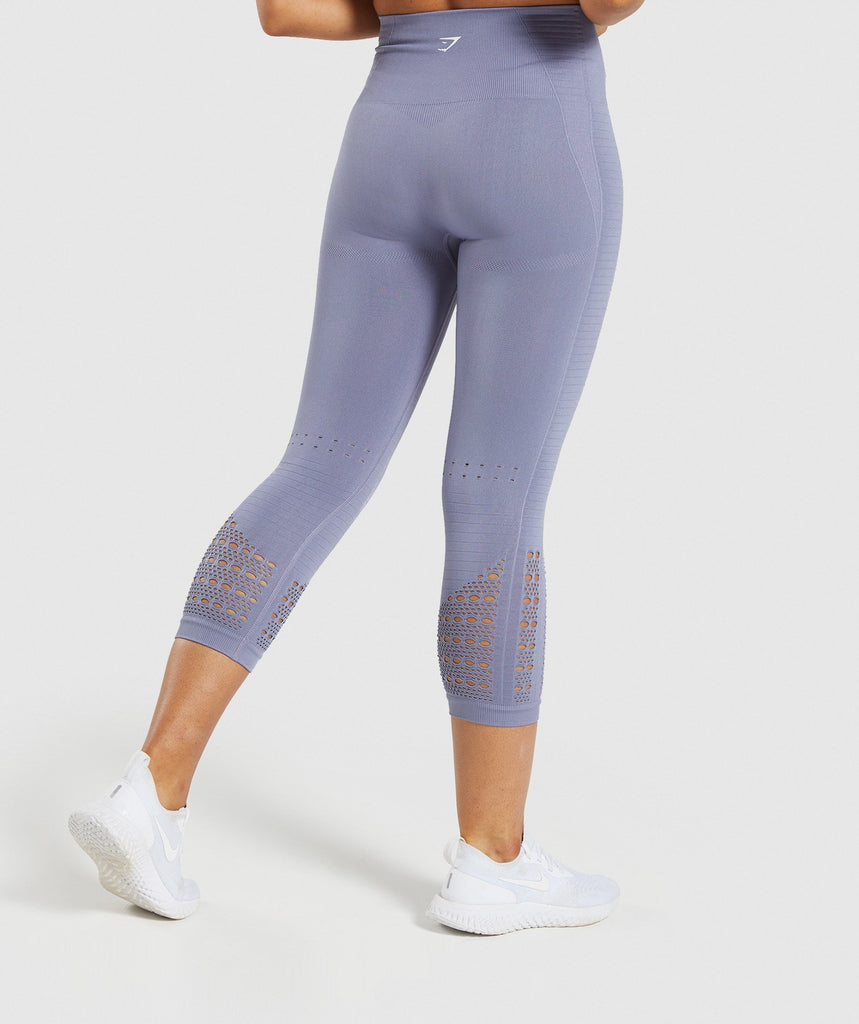 Gymshark Energy+ Seamless Cropped Leggings - Steel Blue 2