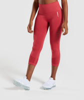 Gymshark Energy+ Seamless Cropped Leggings -  Red 7