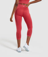 Gymshark Energy+ Seamless Cropped Leggings -  Red 8