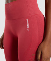 Gymshark Energy+ Seamless Cropped Leggings -  Red 11