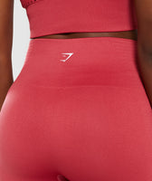 Gymshark Energy+ Seamless Cropped Leggings -  Red 12
