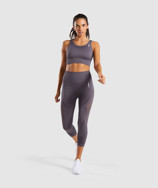 Gymshark Energy+ Seamless Cropped Leggings - Slate Lavender 3