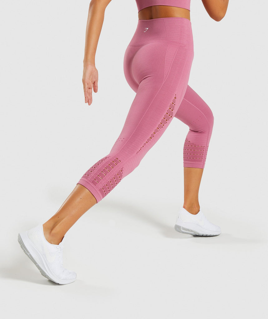 Gymshark Energy+ Seamless Cropped Leggings - Dusky Pink 2