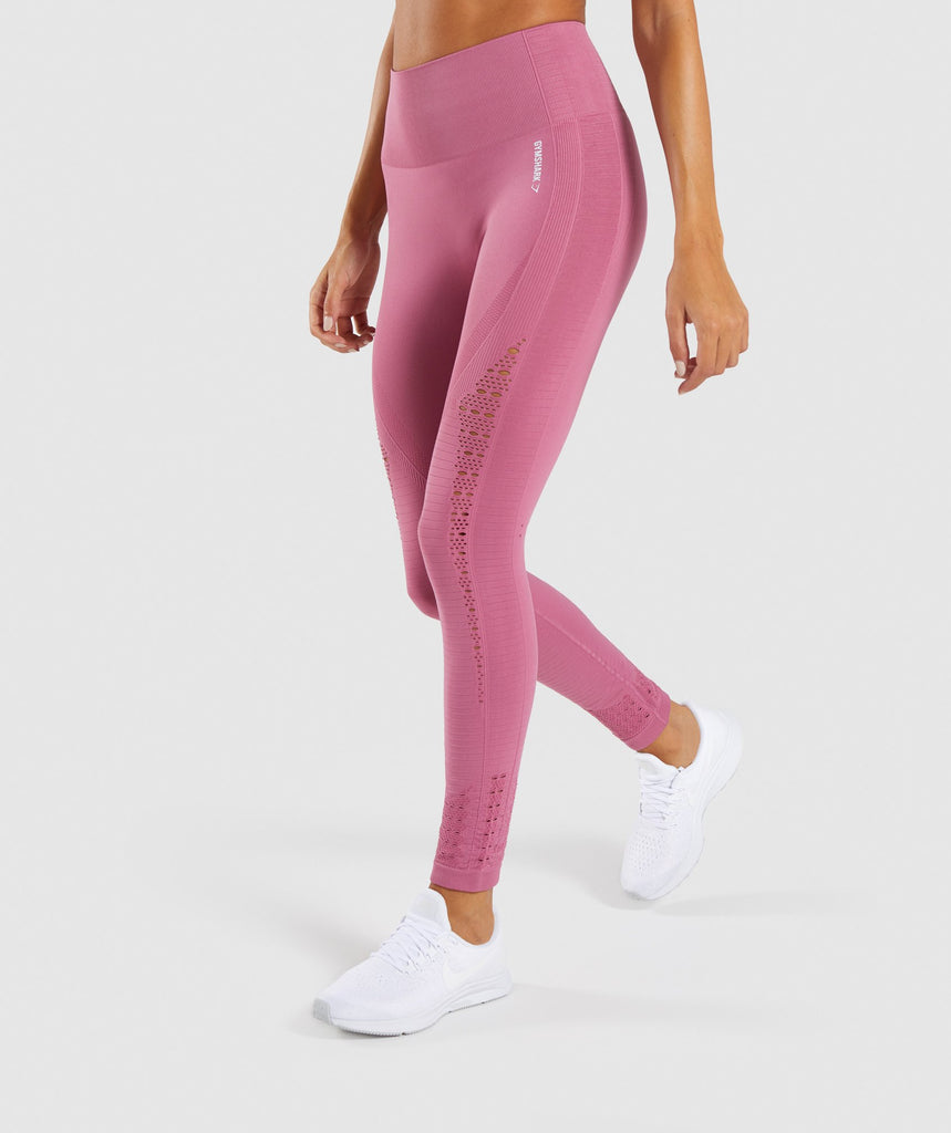 bb8744e81d608 Gymshark Energy+ Seamless Leggings - Dusky Pink 1