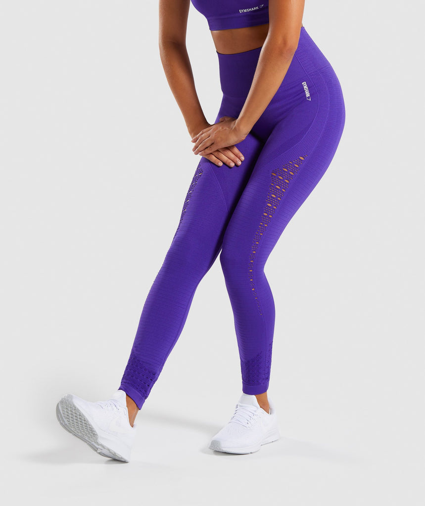 27597f6befcd3 Gymshark Energy+ Seamless Leggings - Indigo 1