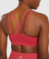 Gymshark Energy+ Seamless Sports Bra - Red 11