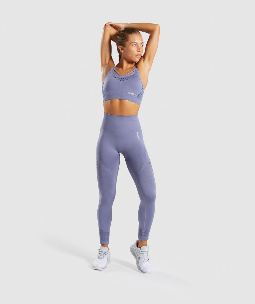 Gymshark Energy+ Seamless Sports Bra - Steel Blue 5