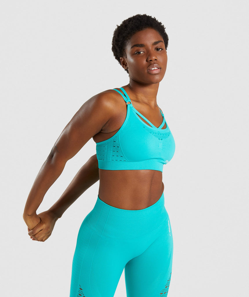 Gymshark Energy+ Seamless Sports Bra - Tropical Blue 1